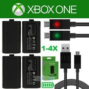 Lot4 For Official Microsoft Xbox One / S Controller Play And Charge Kit 1400mah