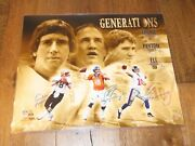 Eli Archie And Peyton Manning Signed 16x20 Photo Autographed Steiner Sports Coa