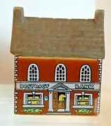 Whimsey On Why Porcelain Houses District Bank 25 From Original Set Of 4
