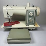 Vintage Sears Kenmore Model 158.161 Zig Zag Sewing Machine With Parts Kit. Works
