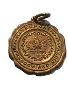 Rare Medal State Of Vermont-freedom And Unity- 14k Gold Pl. Green Mountain State
