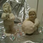 Dept 56 Snowbabies I'm Making Snowballs And Just One Little Candle Free Ship