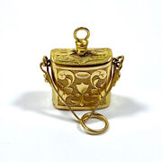 Antique 18ct Gold Perfume Bottle Charm Victorian Era 1840-1850 Extremely Scarce