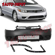 Rear Bumper Cover For 2006-2011 Honda Civic Coupe 2dr 04715svaa90zz Ho1100234