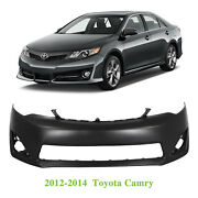 Primered - Front Bumper Cover Fascia For 2012 2013 2014 Toyota Camry Xle L E