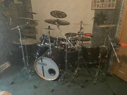 Mapex Black Horizon Drumset Percussion Music Instrument Cymbals Snare Drum Used