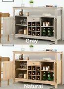 Credenza Storage Cabinet Sideboard Buffet Server Dining Room Kitchen Console