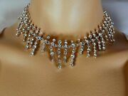 St. John Crystal Necklace And Earring Set Flawless Bridal Jewelry