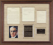 Woodrow Wilson - Autograph Endorsement Signed 03/09/1920 With Co-signers