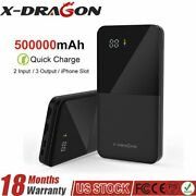 500000mah 2usb Backup External Battery Power Bank Pack Charger For Cell Phone Us
