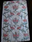 Antique French Silk + Silver Brocade From 18 Th C Robe Roses 39 X 20 Nr.2