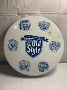 Heilemanand039s Old Style Beer Sign Metal Tin Serving Tray