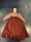 Doll - China Ceramic Head, Hands, Feet Doll In Old Style Clothing 18 Inch