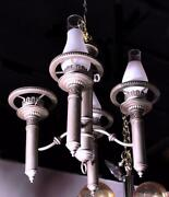 4-arm Colonial Style Early American Chandelier Fixture Lamp Light Vintage Antiqu