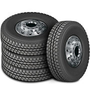4 Tires Zenna Dr-750 225/70r19.5 Load G 14 Ply Drive Commercial