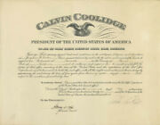 Calvin Coolidge - Civil Appointment Signed 05/19/1926 Co-signed By Harry S. New