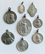 One Lot Old And Vintage Religious Aluminum Medals St. Joan Of Arc