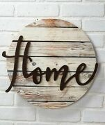 Home Embellished Wall Art Plaque Sign Farmhouse Country Rustic Decor