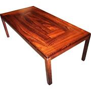 Danish Modern Rosewood Coffee Cocktail Table Side End Console Mid Century Vintag