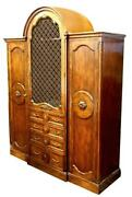 Large French Country Provincial Armoire Wardrobe Bookcase Cabinet Antique Vintag
