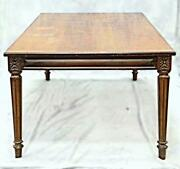 Huge 110l Louis Xvi Style Walnut Custom Conference Dining Meeting Table Office