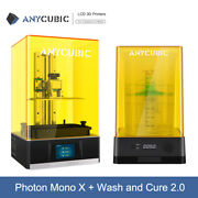 Anycubic Photon Mono X 4k Fast Lcd Resin 3d Printer + Wash And Cure Machine 2.0