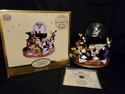 Disney Store Snowglobe Limited Edition Le Of 1200 Mickeyand039s Band Fab 5 Rare W/box