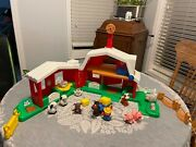 Fisher-price Little People Farm Barn Playset Animals Everything Works Perfect