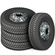 4 Tires Zenna Dr-750 245/70r19.5 Load H 16 Ply Drive Commercial