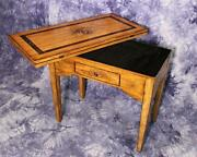 Italian Painted Swivel Top Desk Game Table Console End Dining Side Center Vanity