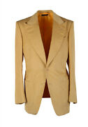 New Tom Ford Atticus Sand Corduroy Suit Size 46 / 36r U.s. In Cotton Linen