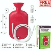 Travel Enema Douche Kit Reusable Cleansing Hot Soft Water Bottle Cleaning System