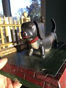 American 19th Cent.-folk Art Carved/painted Dog-fence-dachshund-wiener-mail