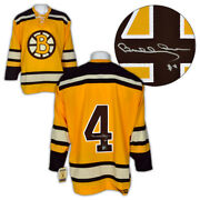 Bobby Orr Boston Bruins Autographed Yellow Rookie Ccm Vintage Jersey Gnr Coa