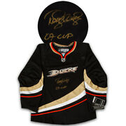 Teemu Selanne Anaheim Ducks Authentic Hockey Jersey Signed On Front With 07 Cup
