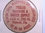 Wooden Nickel Steelco Hardware And Garden Supply Hialeah Fla 10 Discount Of 5.00