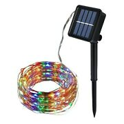 Solar Powered Christmas Lights Copper String Outdoor Waterproof