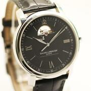 Baume And Mercier Classima Open Heart 65558 Stainless Steel Automatic Menand039s Watch