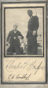 Charles A. Lindbergh - Photograph Mount Signed Circa 1927 With Co-signers
