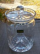 Ashford Castle Collection Arch Fan X Cut Crystal Large Candy Jar Canister W Lid