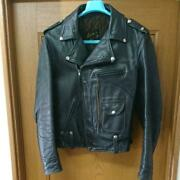Buco Double Motorcycle Jacket Leather Black Size 40 Used From Japan