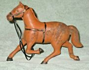 Antique 1940and039s Cast Iron Kenton Toys Horse Drawn Sulky Harness Racer Or Surrey