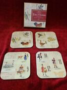 Williams Sonoma 12 Days Of Christmas Set Of 12 Boxed Coasters