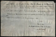 King Louis Xviii France - Military Appointment Signed 08/30/1814