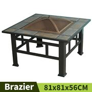 Outdoor Barbecue Table Bbq Grills Garden Heating Furnace With Baked Mesh Grid
