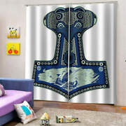 Antique, Hard And Heavy Shield Printing 3d Blockout Curtains Fabric Window