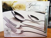 Gorham Stainless Melon Bud Frosted 20 Pc Place Set Service / 4 - New / Box