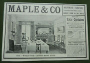 Maple And Co Vintage Edwardian Dining-room Suite Advert