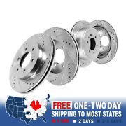 Front And Rear Quality Brake Disc Rotors Set For Infiniti Qx56 Nissan Armada