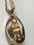 """Hummel Goebel Girl With Heart Collectors Club Necklace 24"""""""